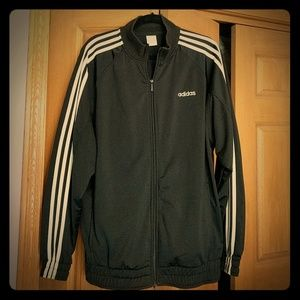 Adidas men's track zip up jacket with 3 stripes